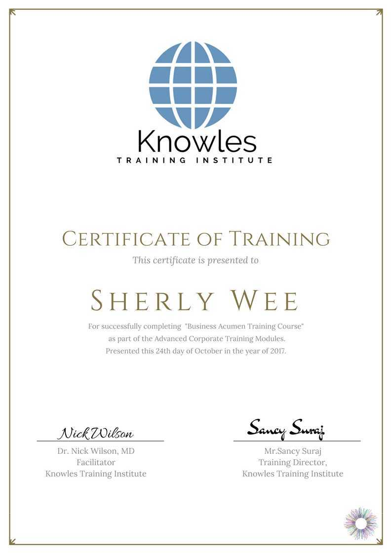 Business acumen training course in singapore knowles training course fees 1betcityfo Gallery
