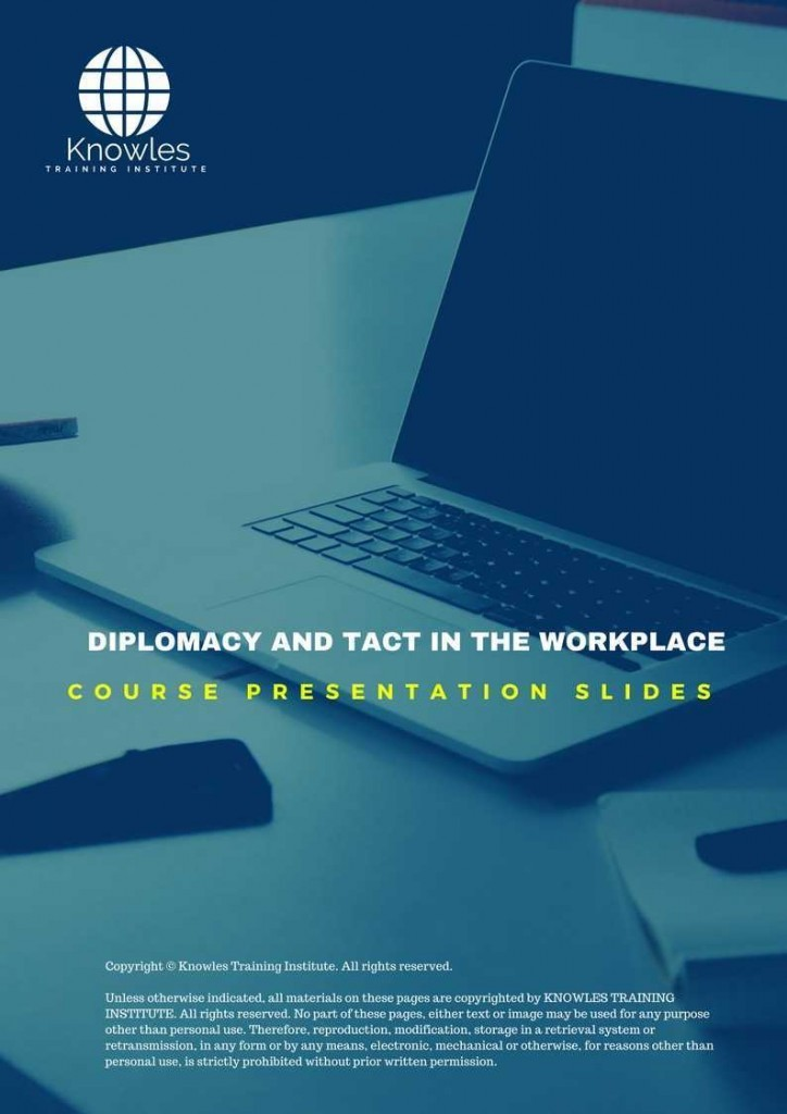 Diplomacy & Tact In The Workplace Training Course In