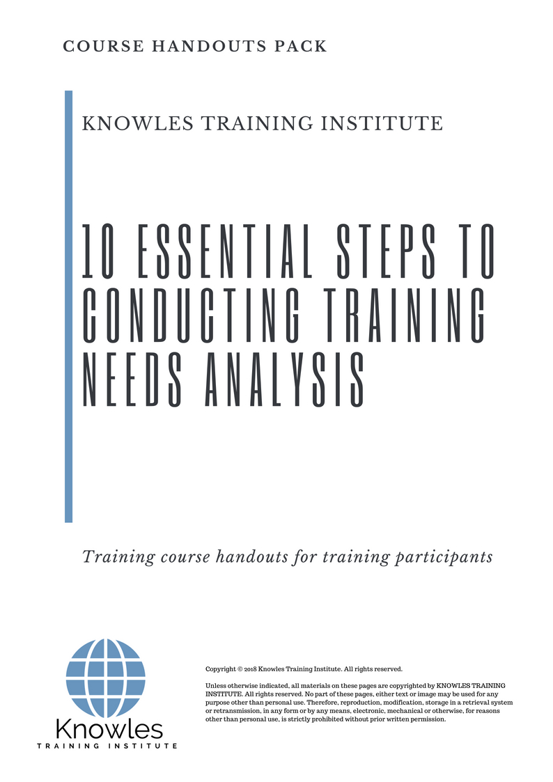 10 Essential Steps To Conducting Training Needs Analysis Course Handouts Conducting Training Courses fotografo
