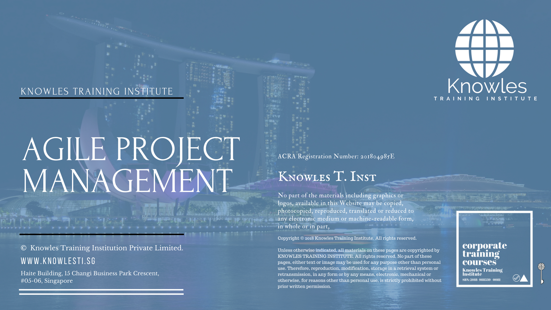 Agile Project Management Training Course In Singapore Knowles