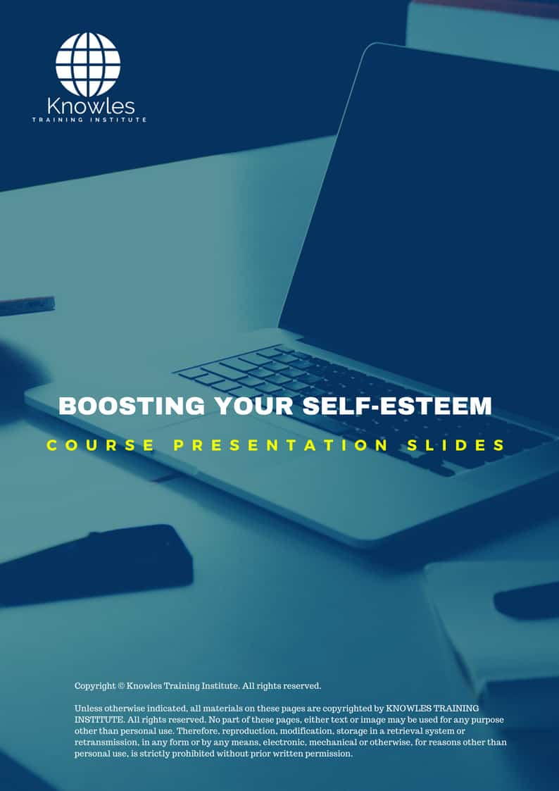 Boosting Your Self-Esteem Training Course In Singapore