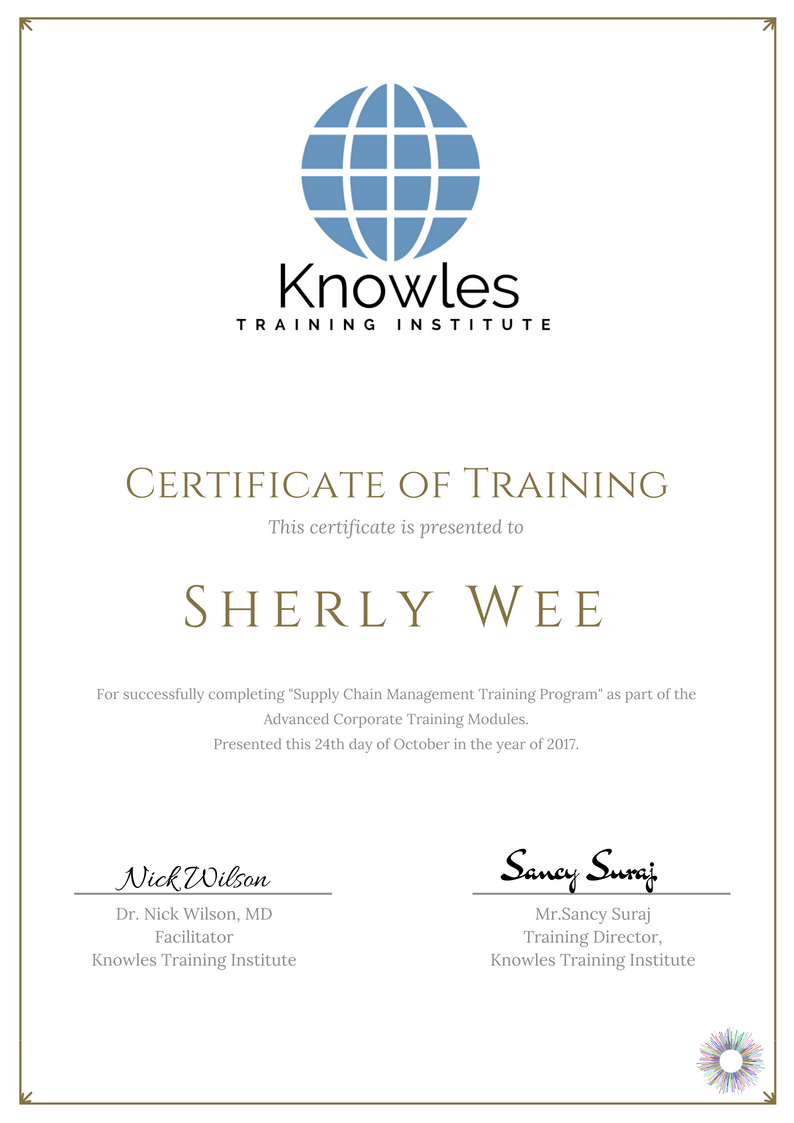 Supply Chain Management Training Course In Singapore Knowles
