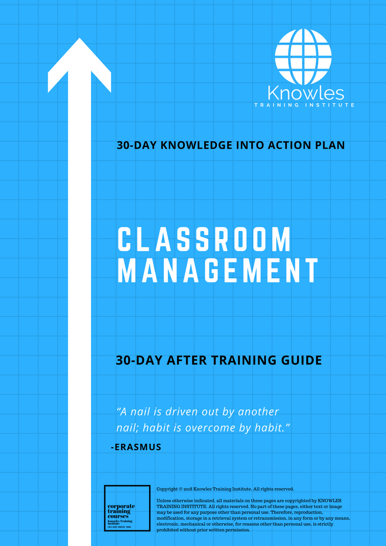 Classroom Management Training Course In Singapore - Knowles