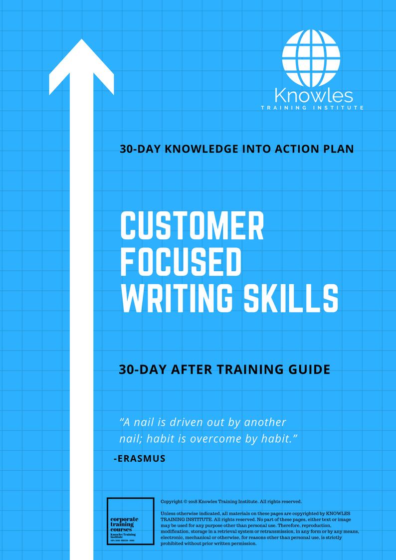 customer focused writing skills training course in