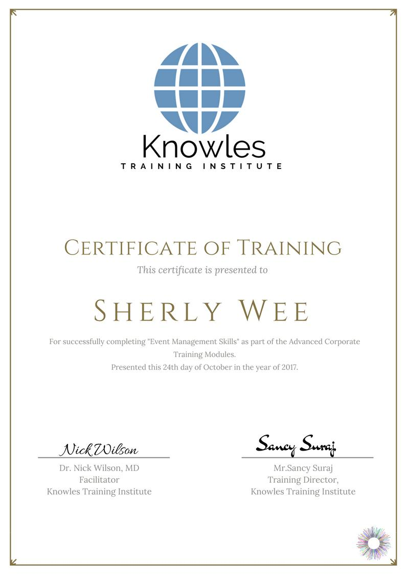 Event Management Skills Training Course In Singapore Knowles