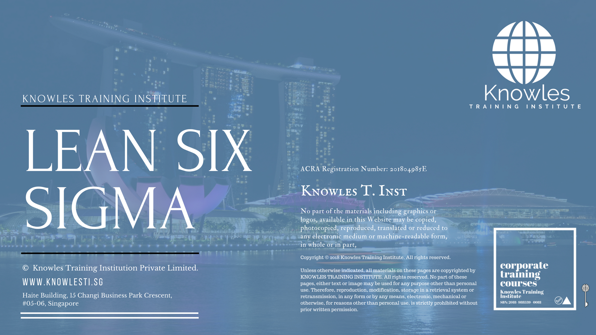 Lean Six Sigma Training Course In Singapore Knowles Training Institute