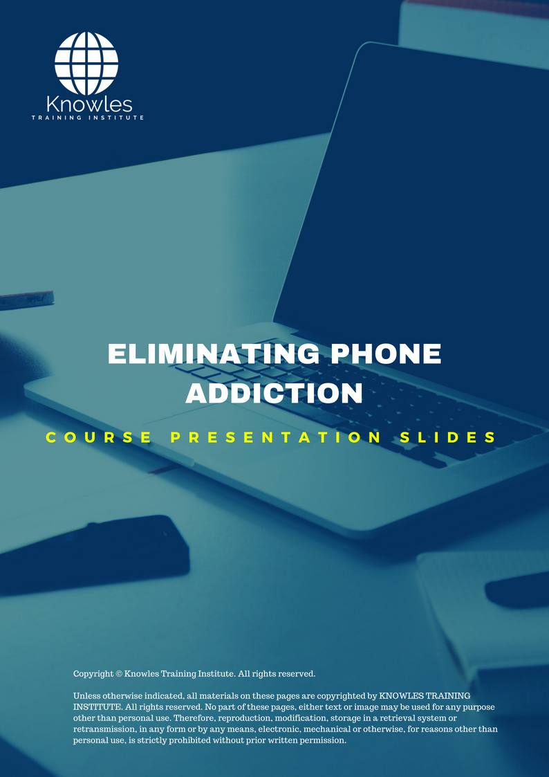 Eliminating Phone Addiction Training Course In Singapore