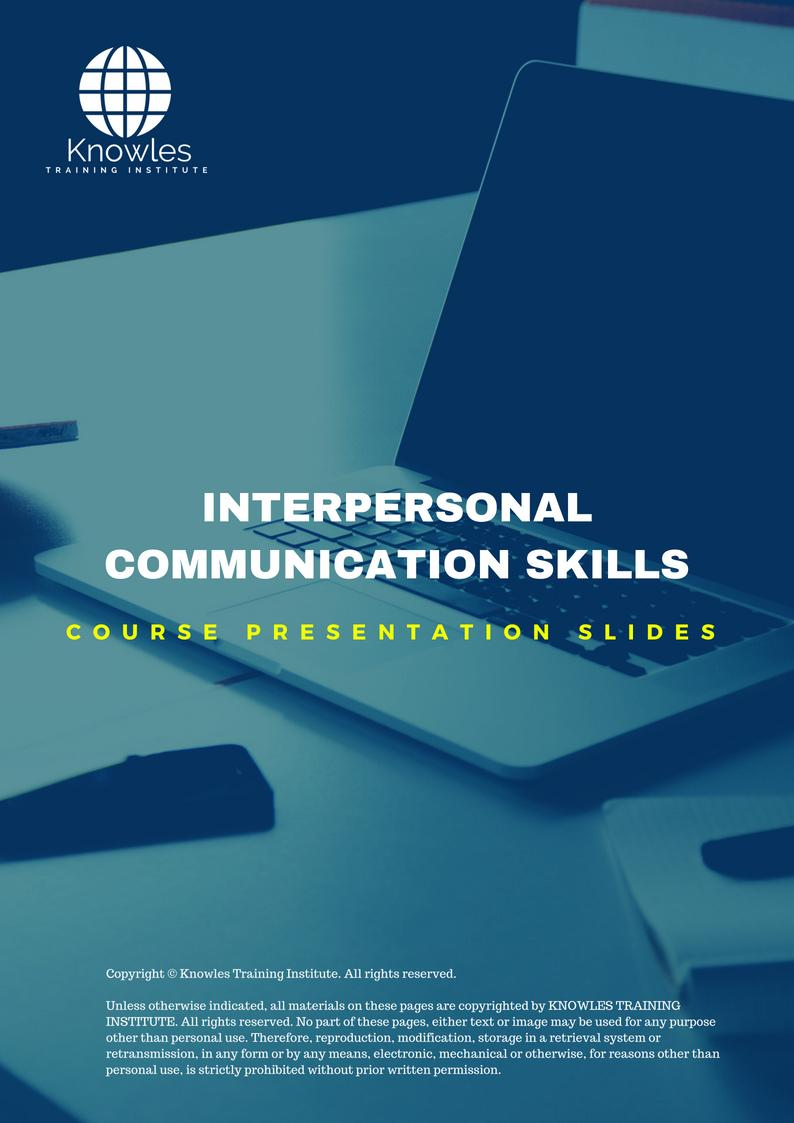 Interpersonal Communication Skills Training Course In