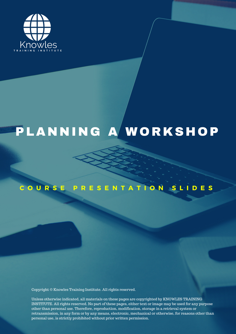 Planning A Workshop Training Course In Singapore |Training Courses