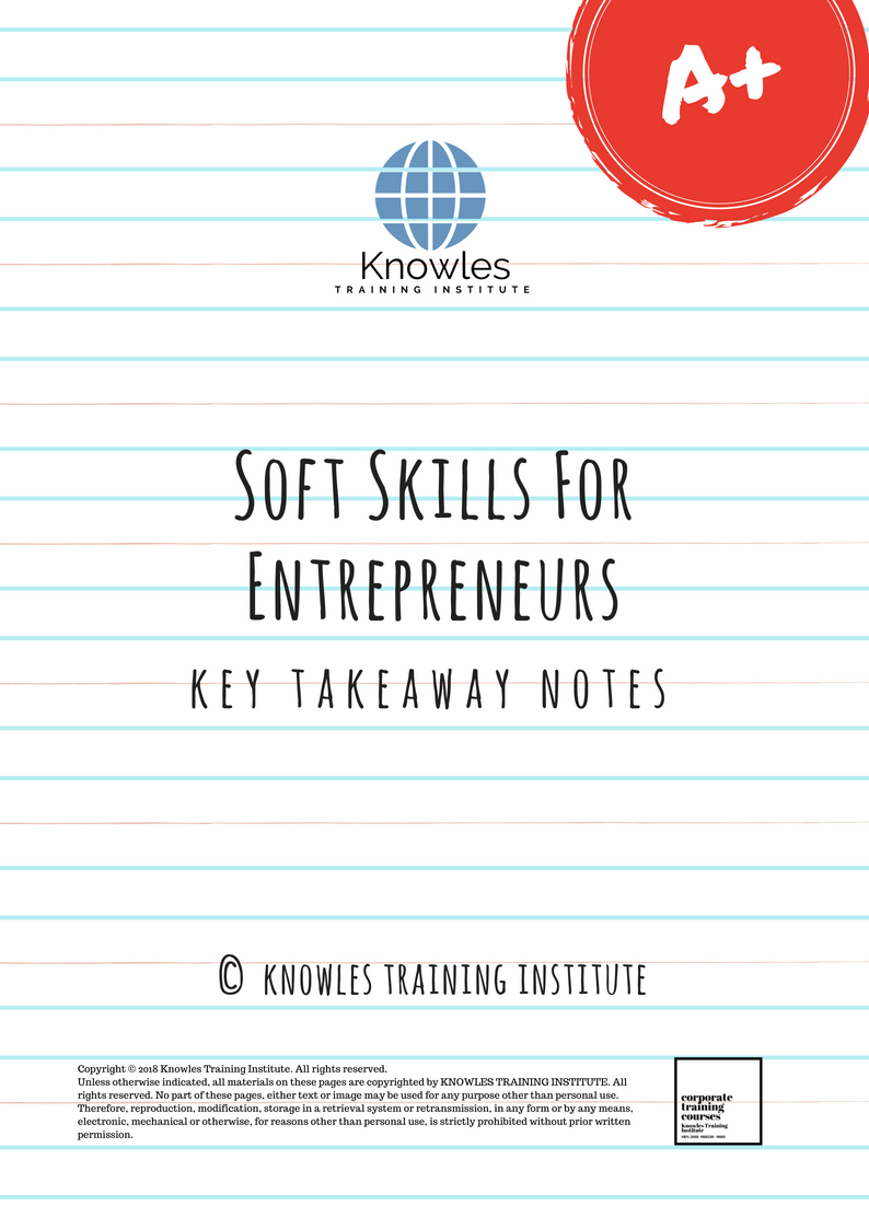 Soft Skills For Entrepreneurs Training Course In Singapore |Training