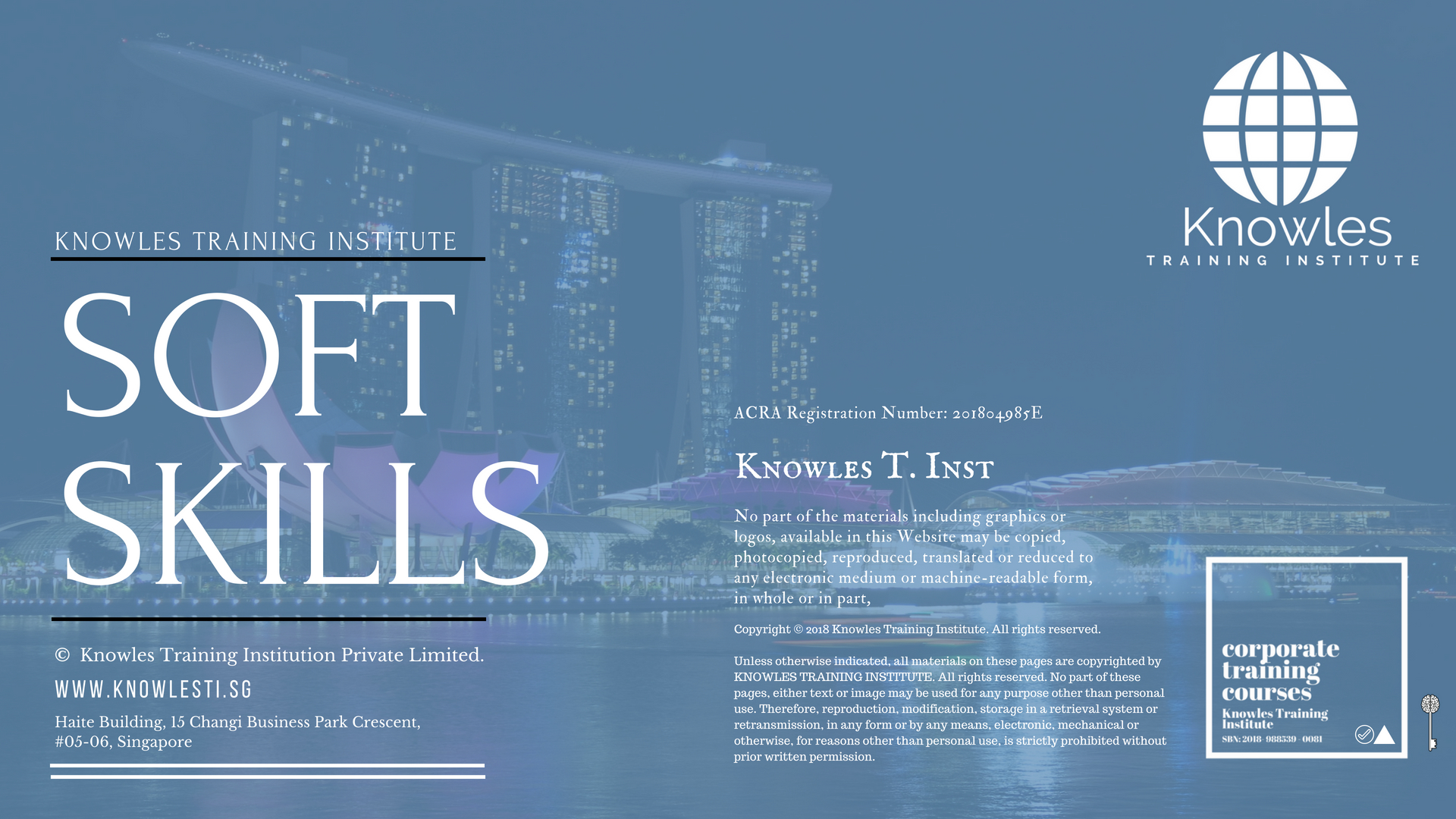 Soft Skills Training Course In Singapore – Knowles Training Institute