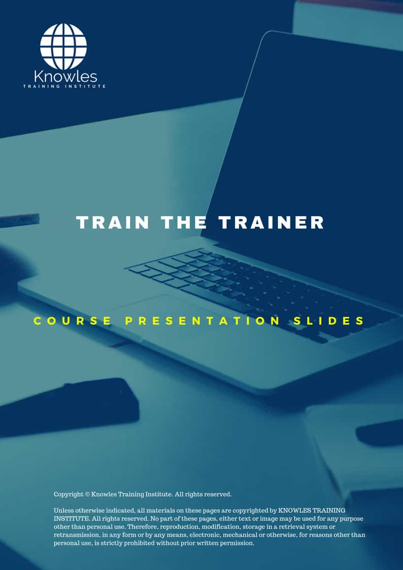 train the trainer training course in singapore knowles training