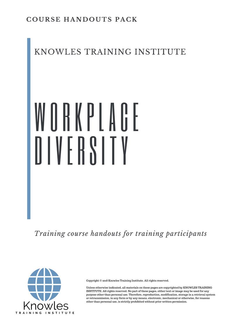 Diversity training business plan