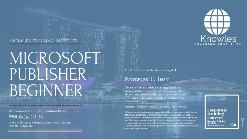 Microsoft Publisher Beginner Training Course In Singapore