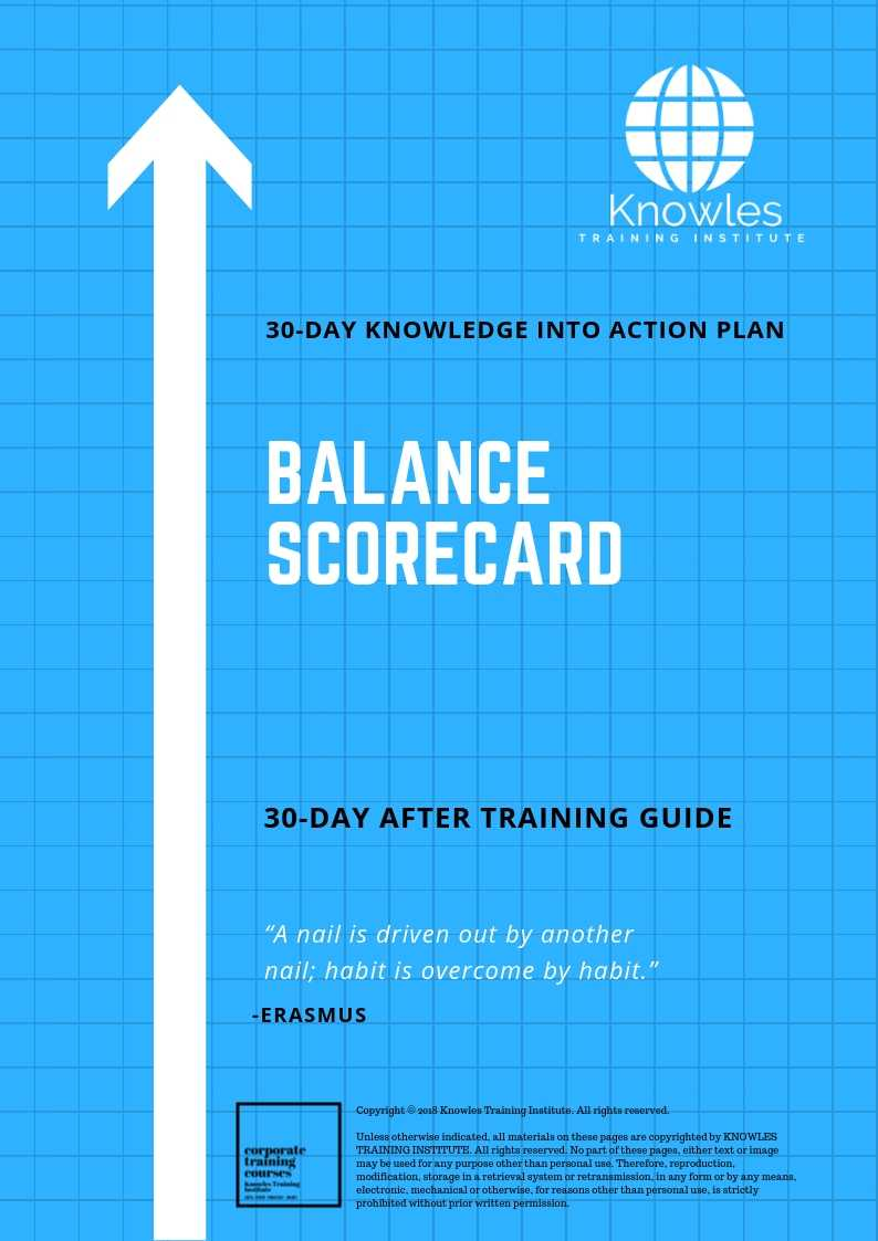 The Balanced Scorecard 30-Day Action Plan