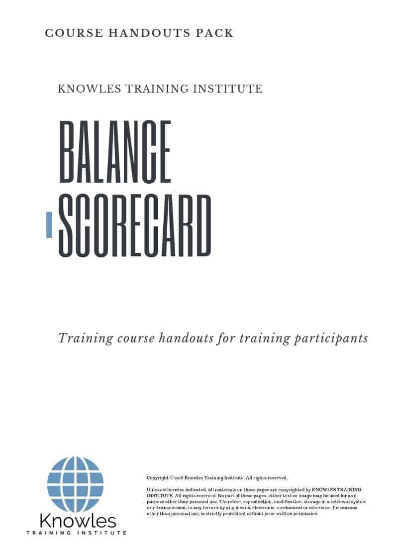 The Balanced Scorecard Course Handouts