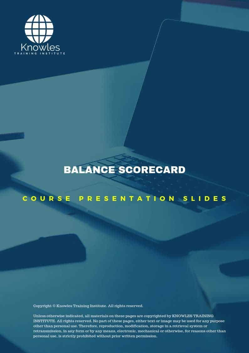 The Balanced Scorecard PPT Slides Used During Course