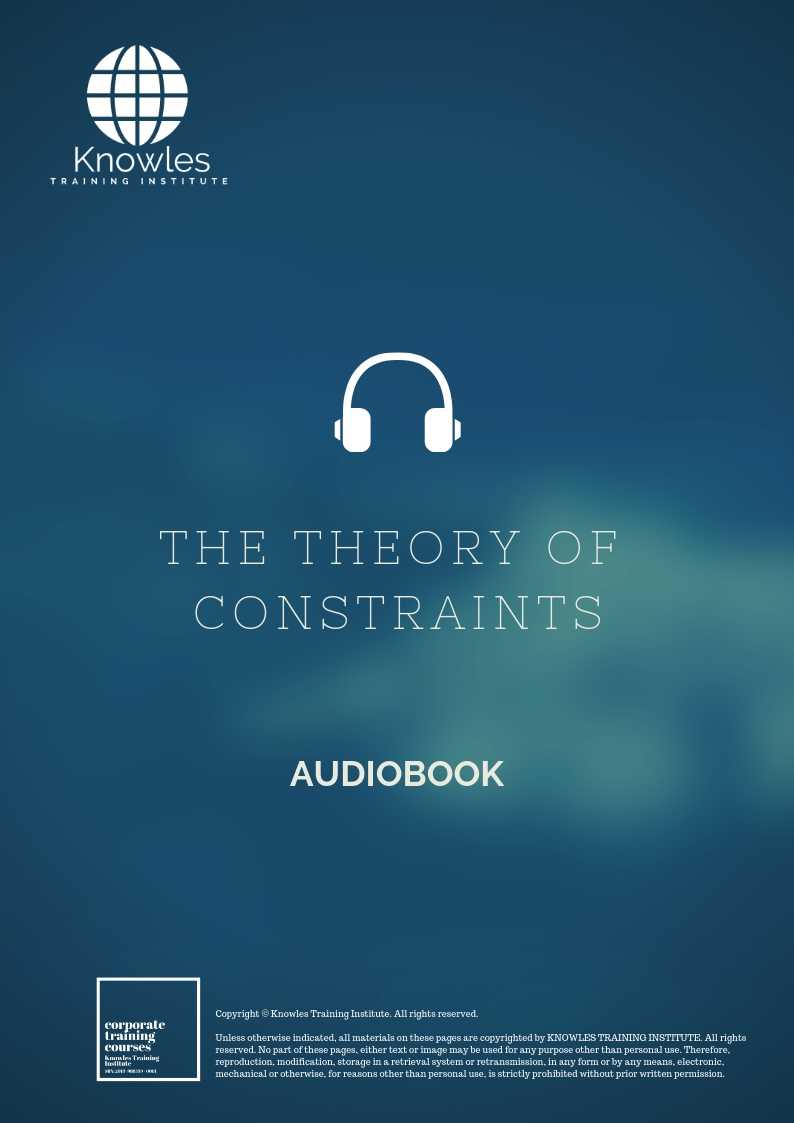 The Theory of Constraints Audiobook