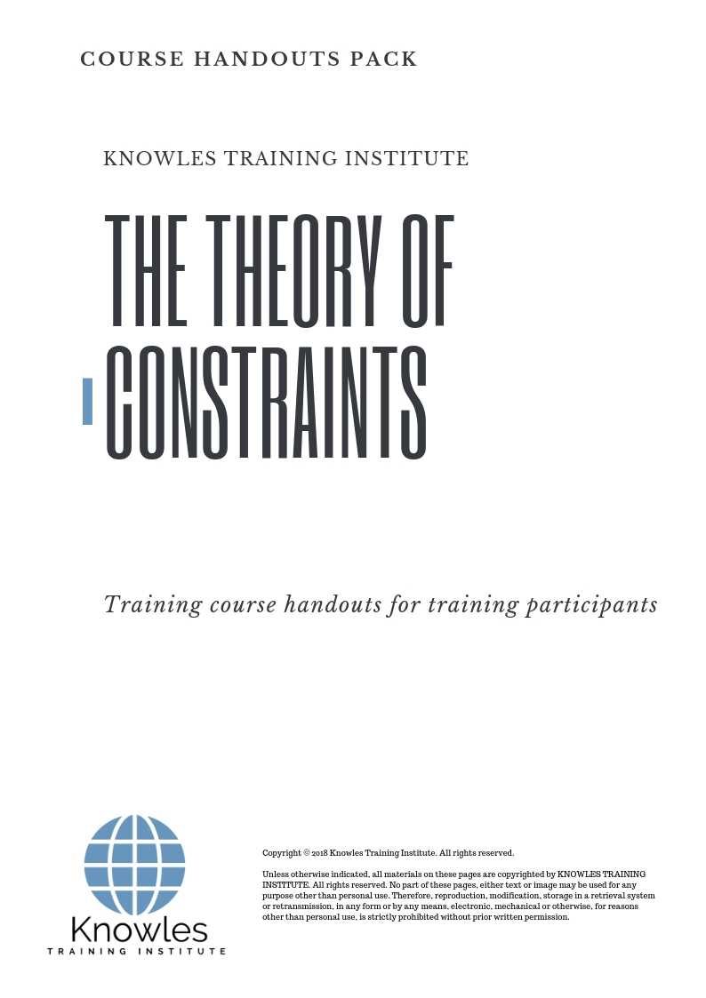 The Theory of Constraints Course Handouts