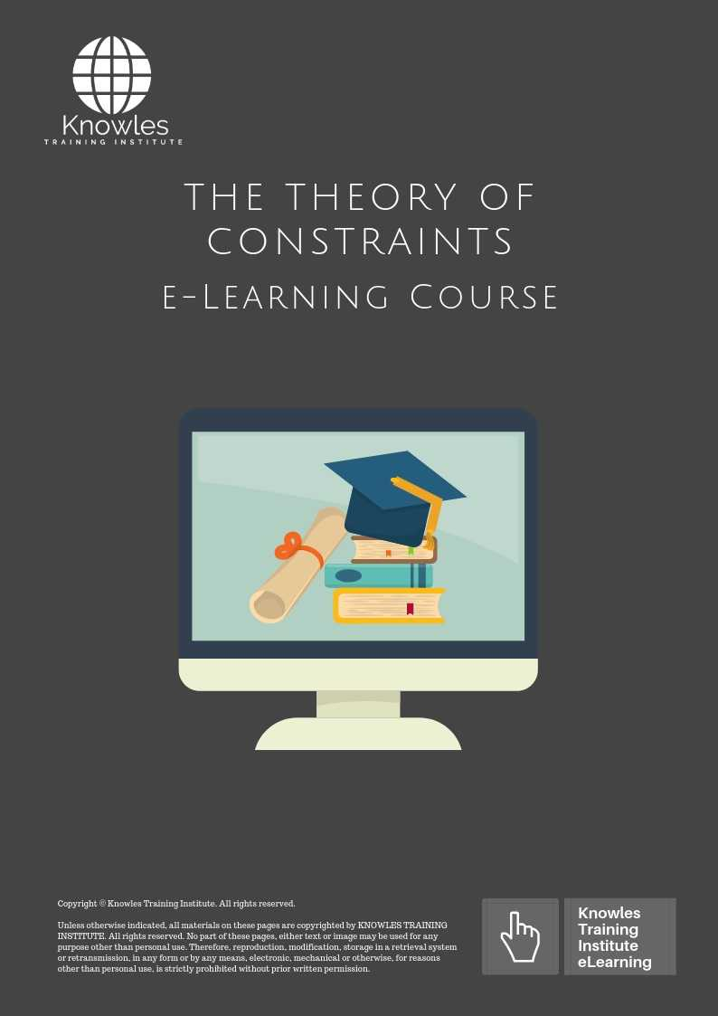 The Theory of Constraints E-Learning Course