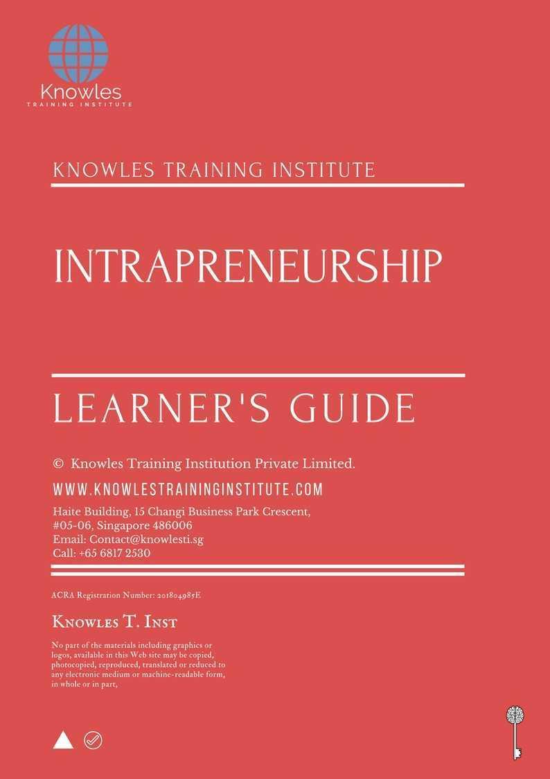 Intrapreneurship Training Course