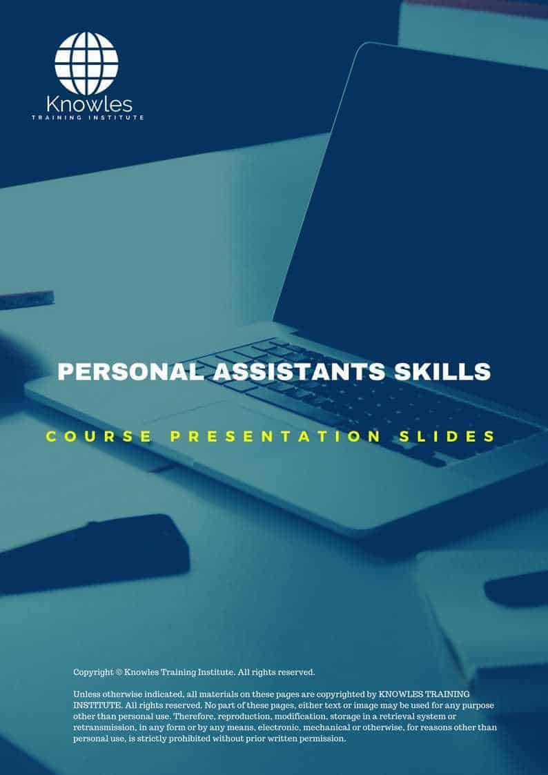 Personal Assistants Skills Course