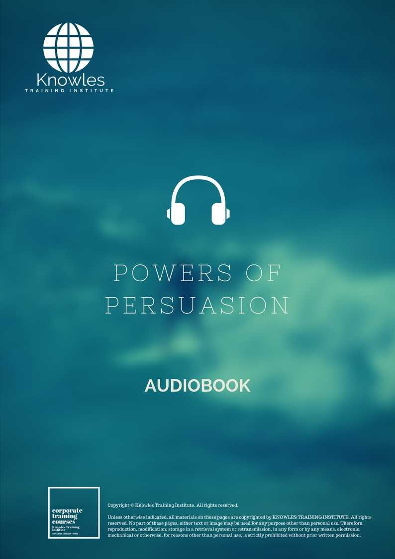 Powers Of Persuasion Training Course