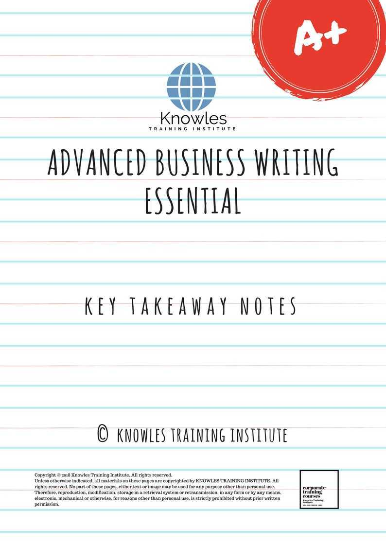business writing training programs