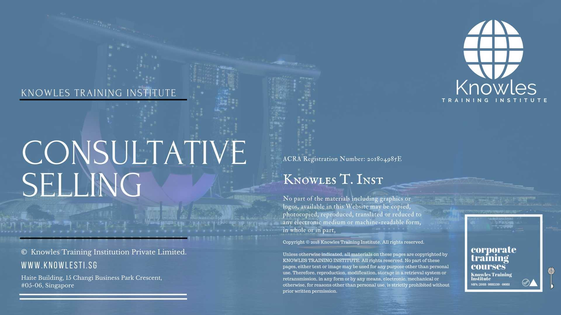 Consultative Selling Course In Singapore