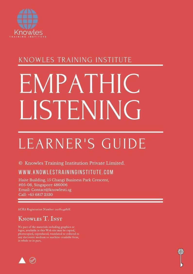 Empathic Listening Training Course