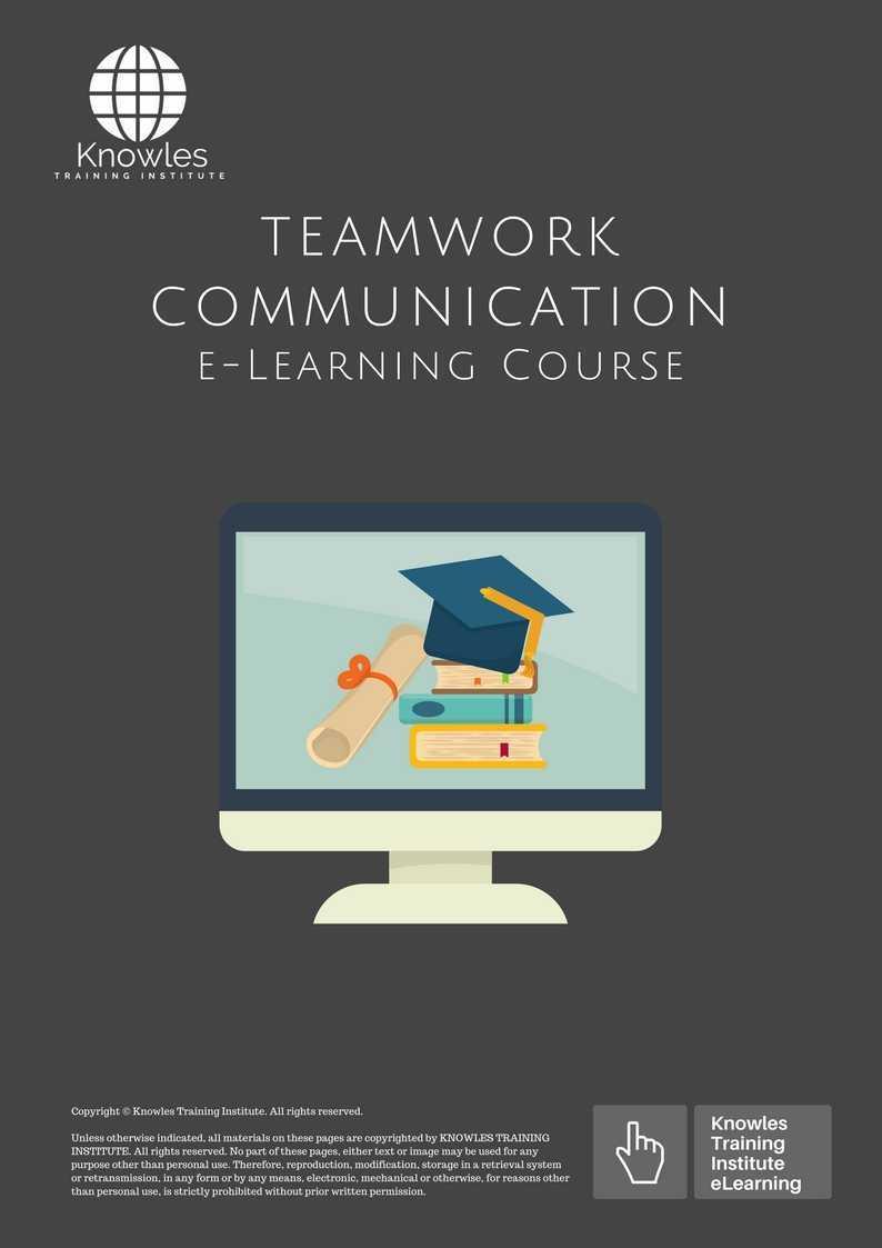 Teamwork Communication Training Course