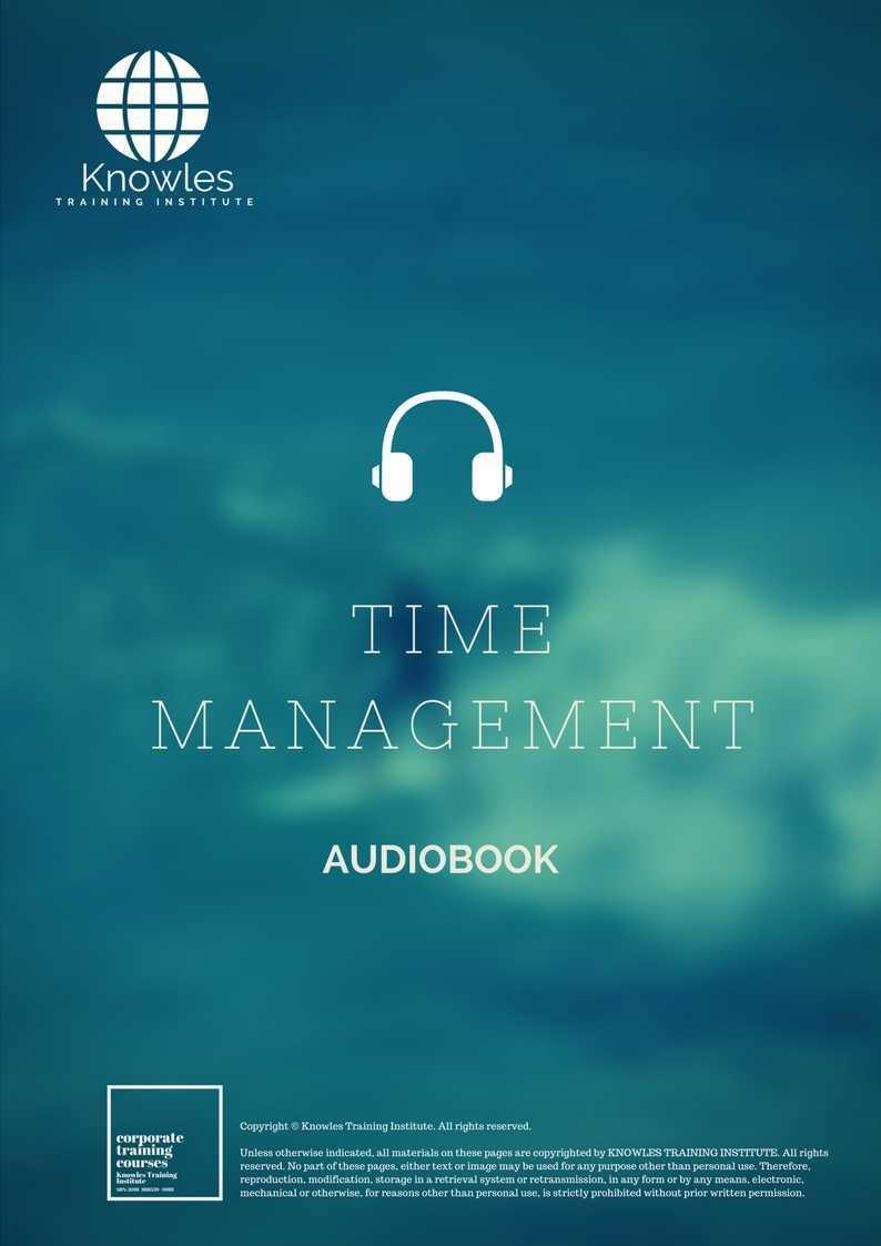 Time Management Audio Book