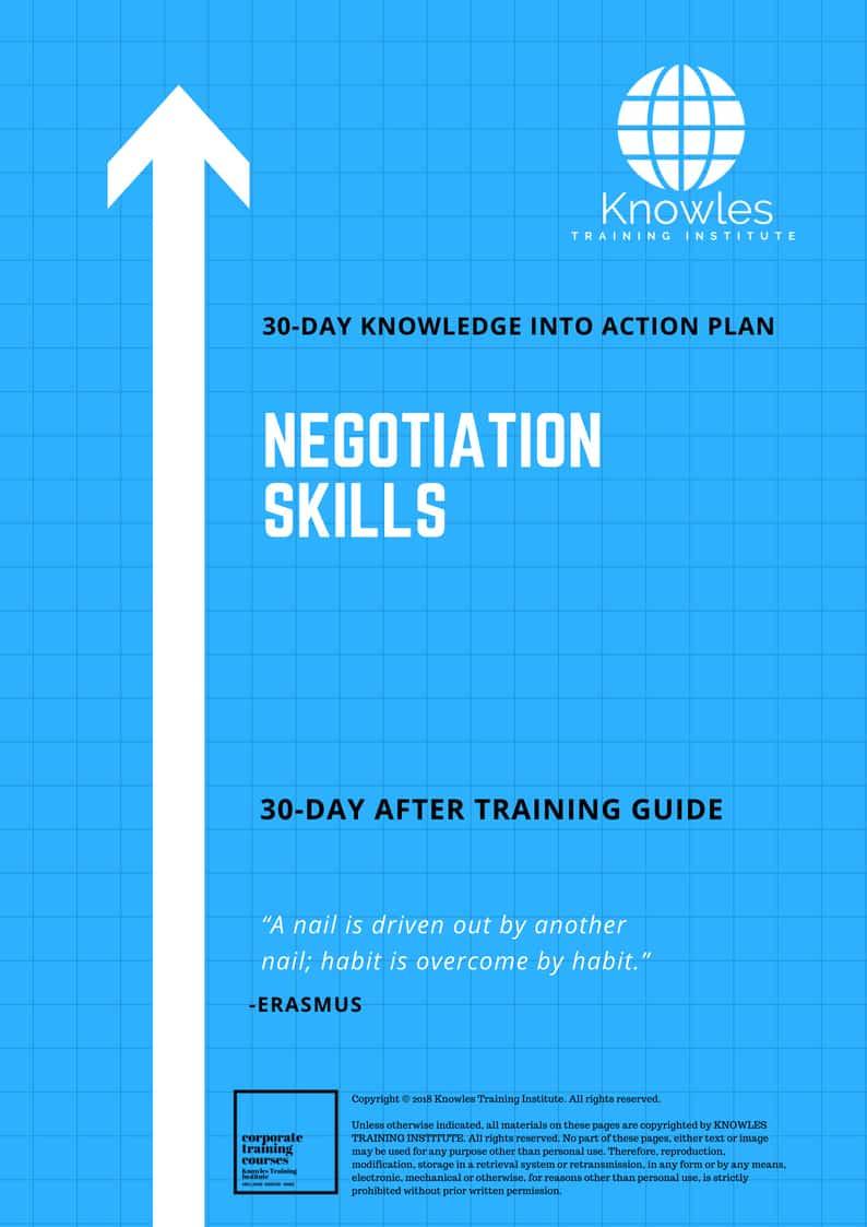 Negotiation Skills 30-Day Action Plan