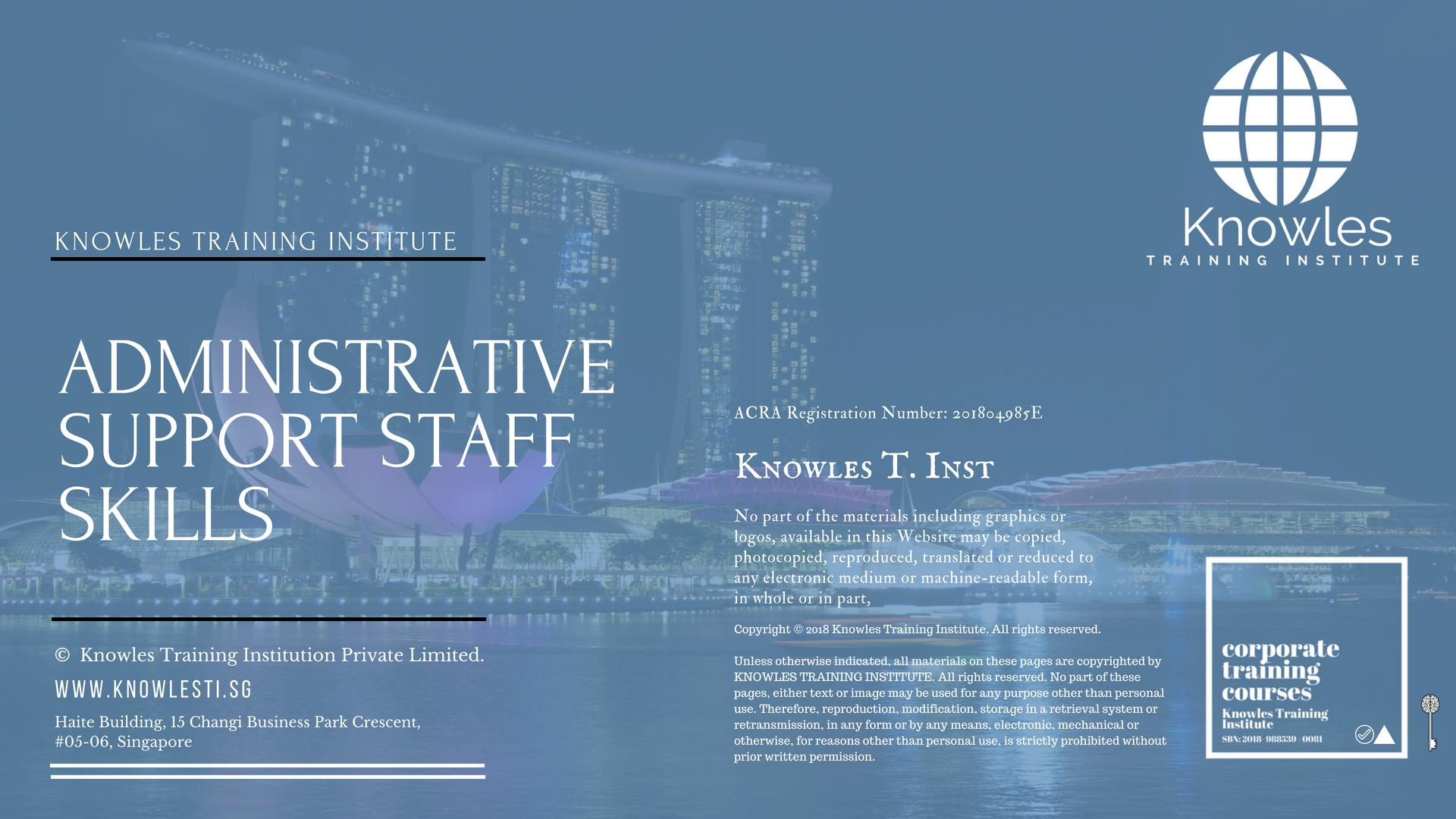 Administrative Support Staff Course Singapore