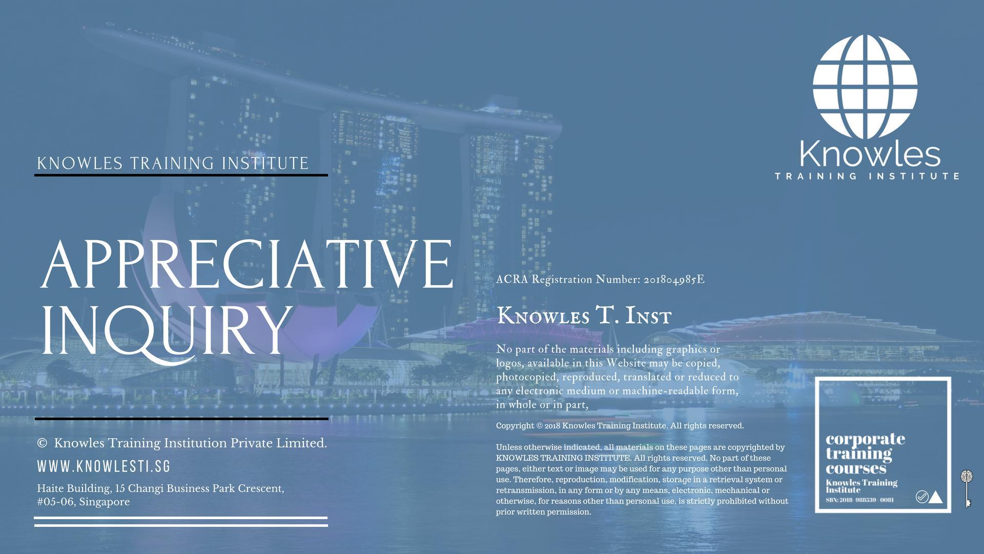 Appreciative Inquiry Course In Singapore