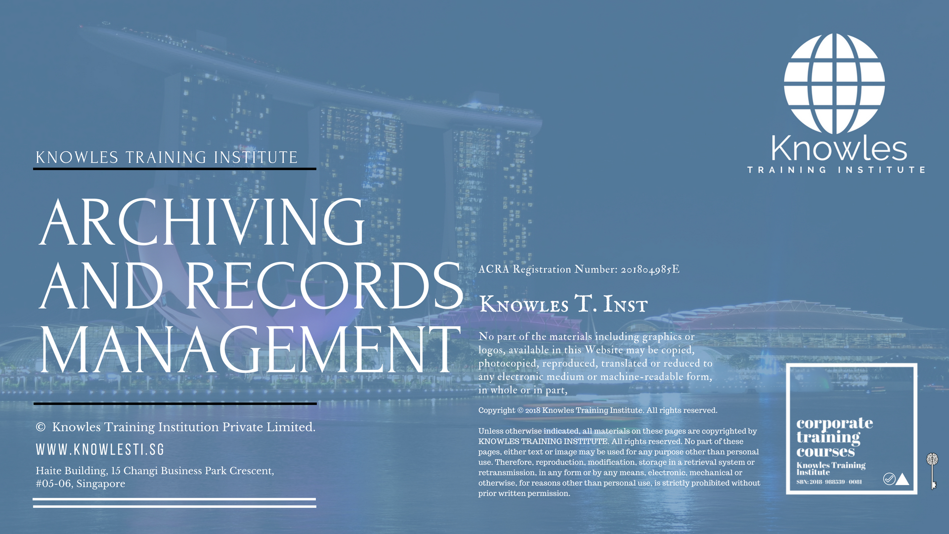 Archiving And Records Management Course