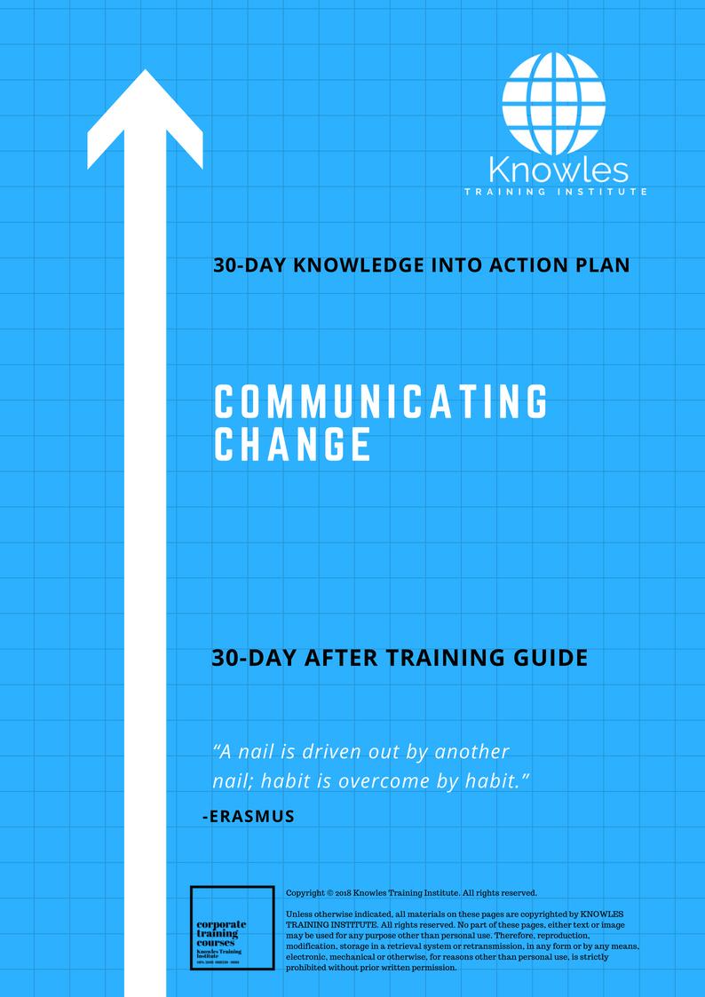 Communicating Change Training Course