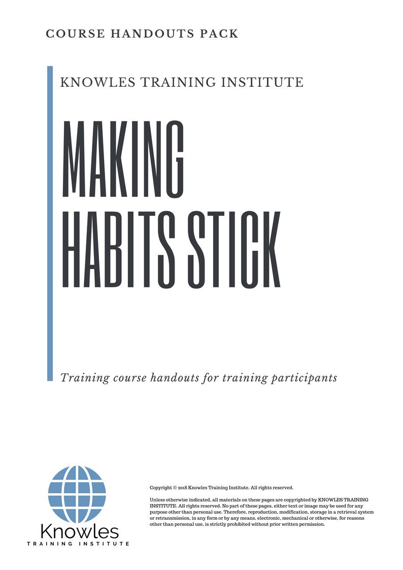 Making Habits Stick Training Course
