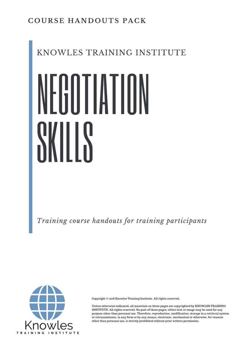 Negotiation Skills Course Handouts