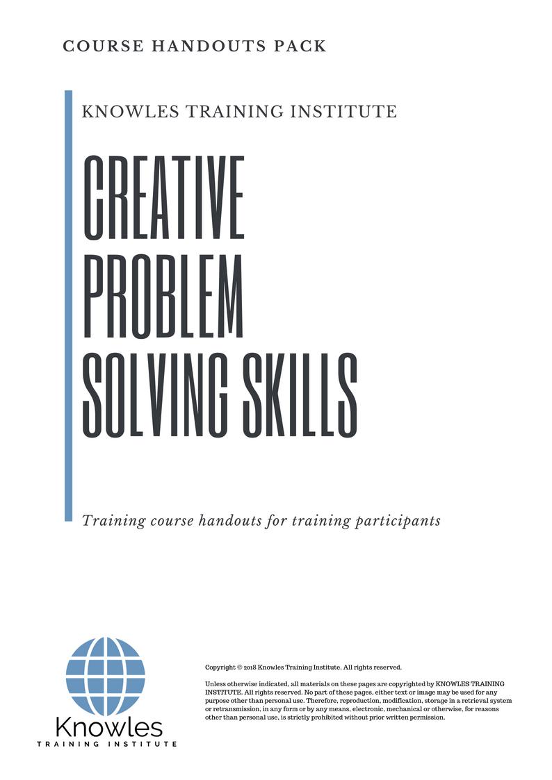 Creative Problem Solving Course