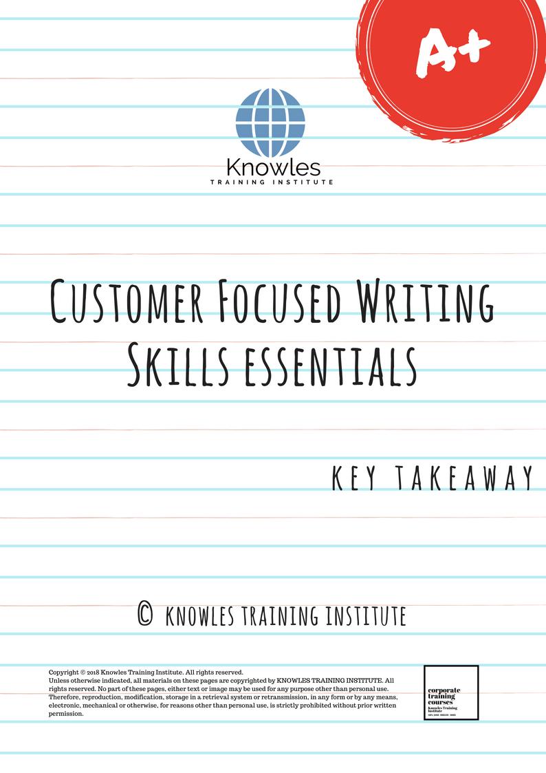 Customer Focused Writing Course