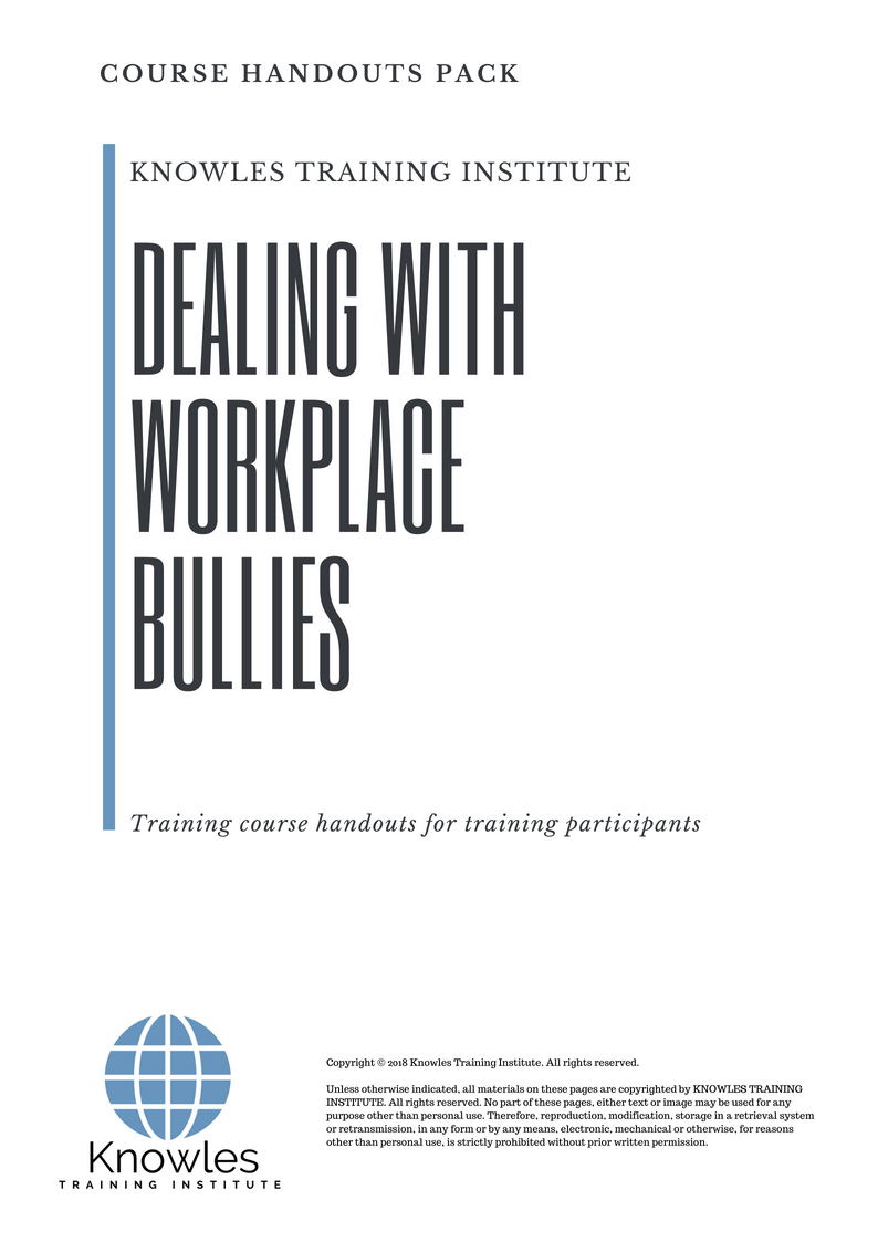 Dealing With Workplace Bullies Workshop