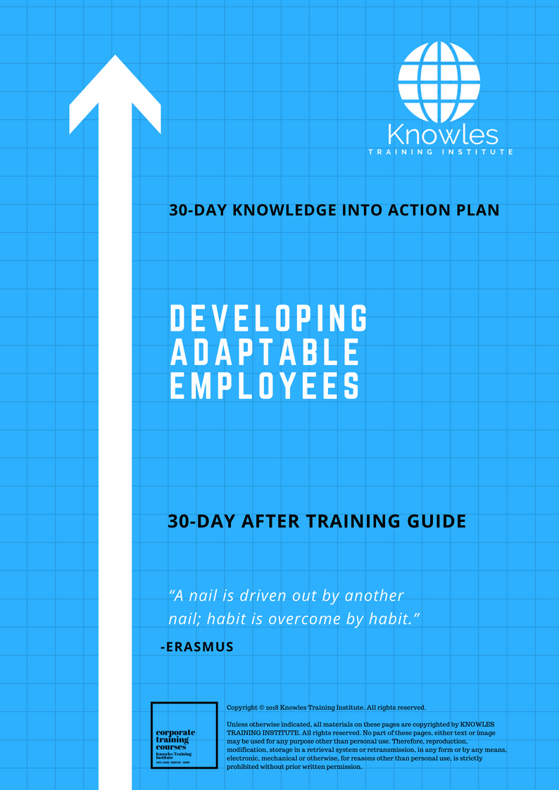 Developing Adaptable Employees Course