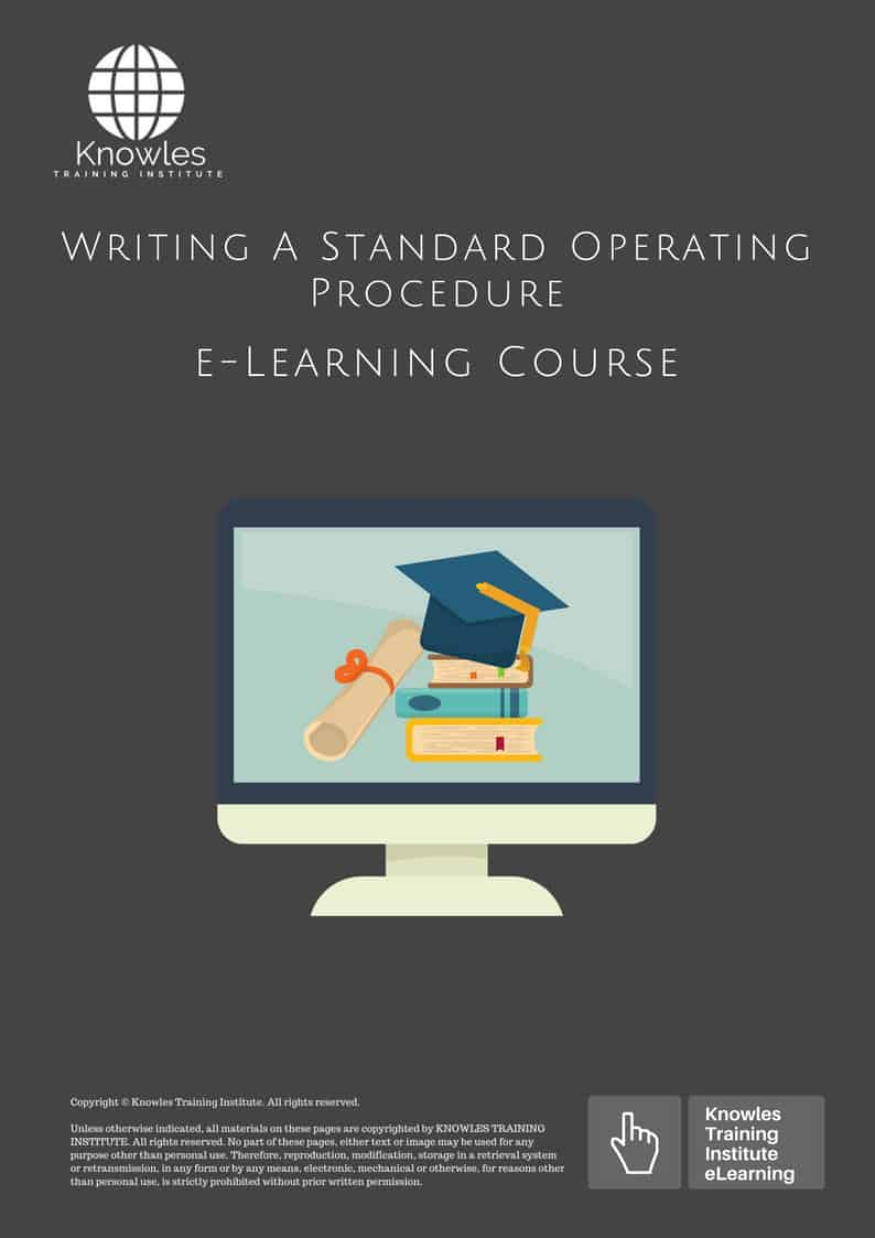 Writing A Standard Operating Procedure Course