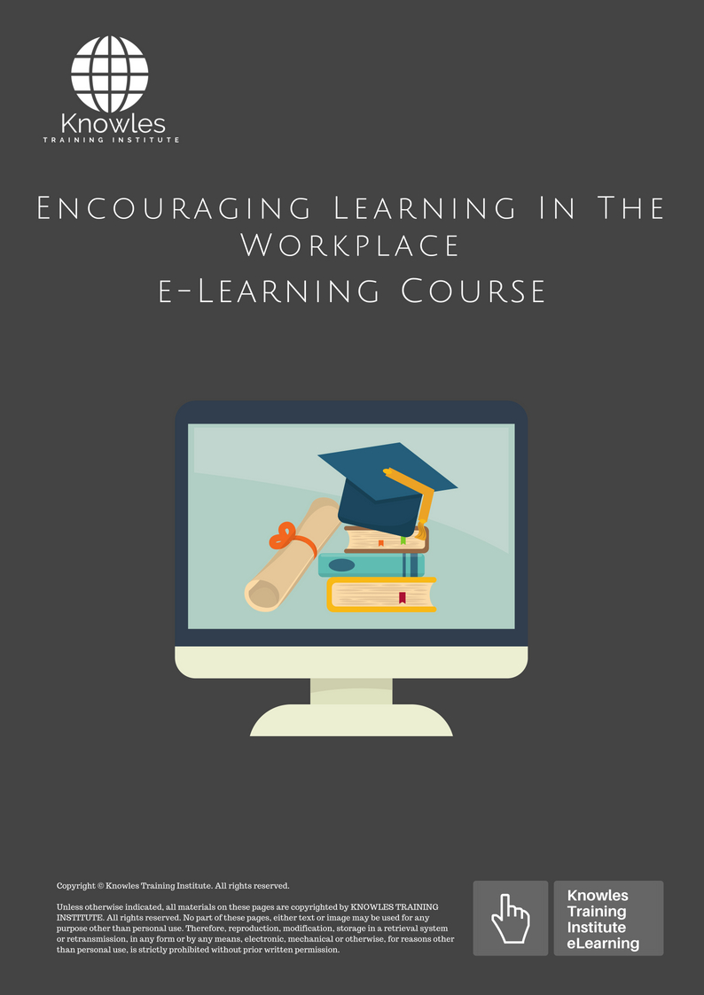Encouraging Learning In The Workplace Course