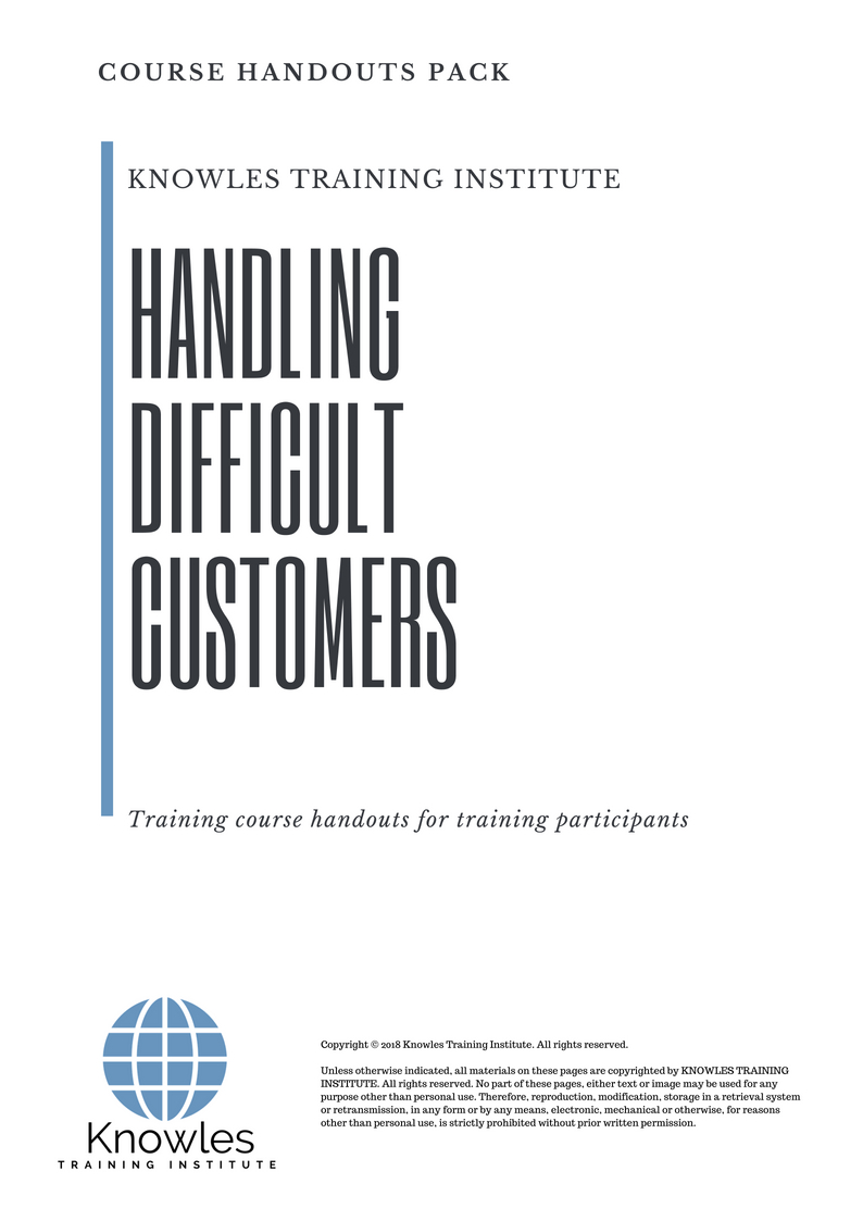 Handling Difficult Customers Course