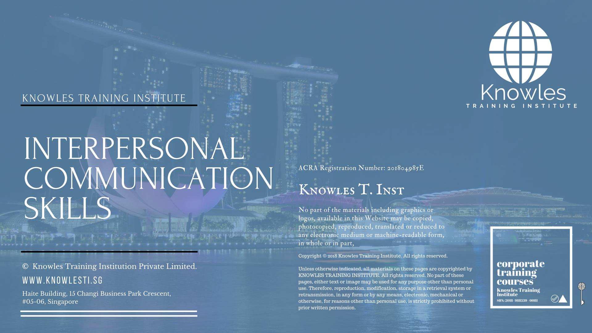 Interpersonal Communication Course in Singapore