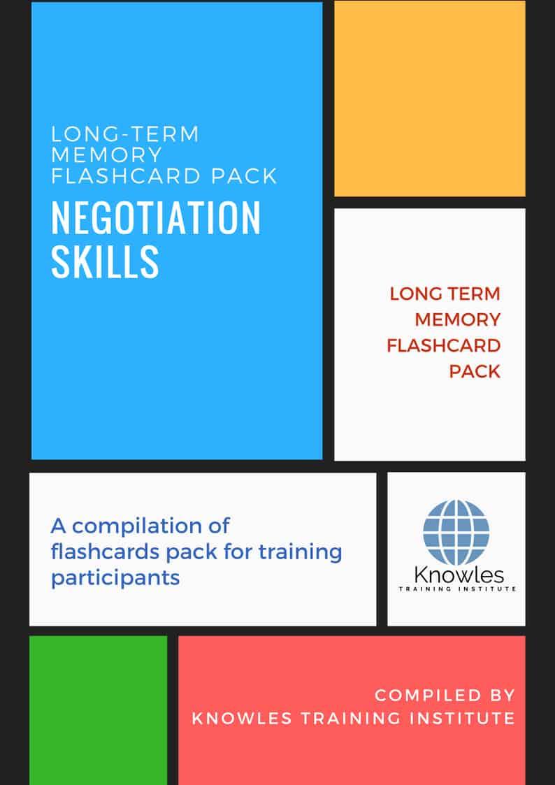 Negotiation Skills Long-Term Memory Flashcards Pack
