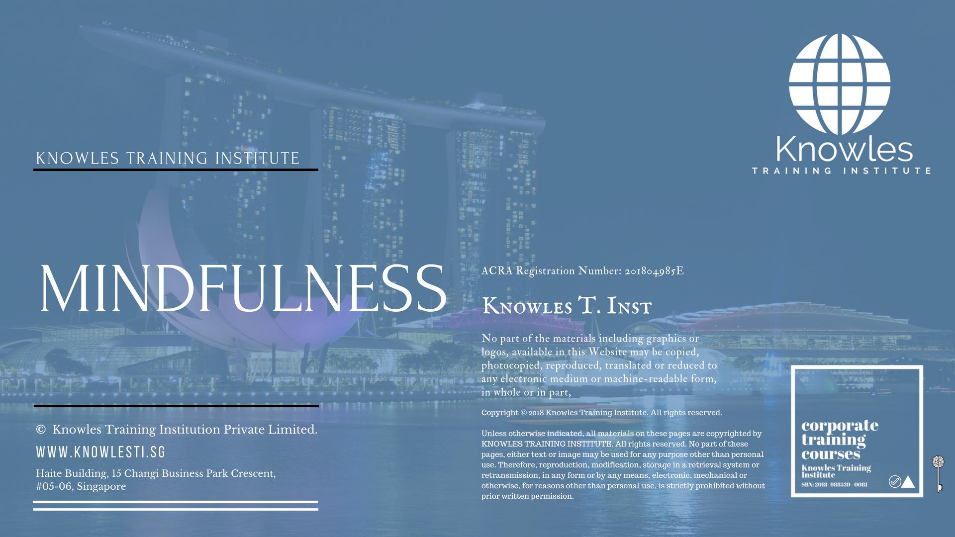 Mindfulness Training Course