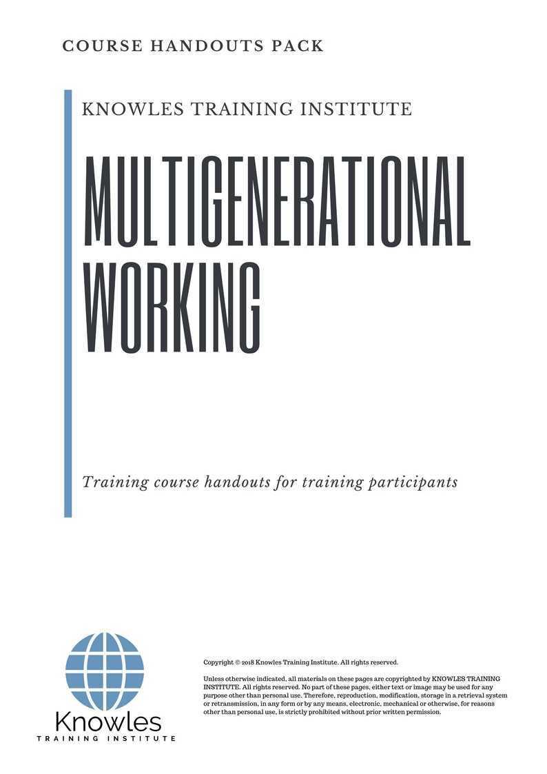Multigenerational Working Training Course